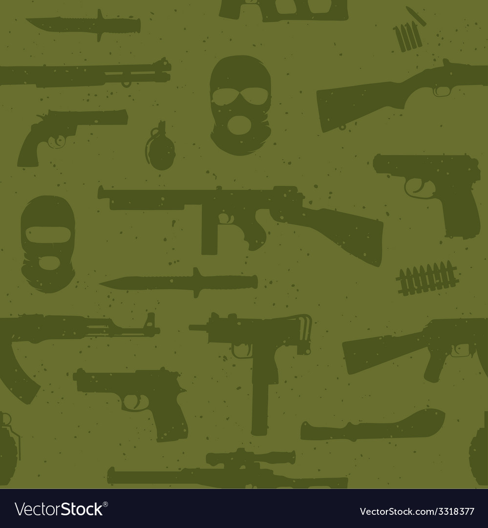 Army weapons seamless pattern