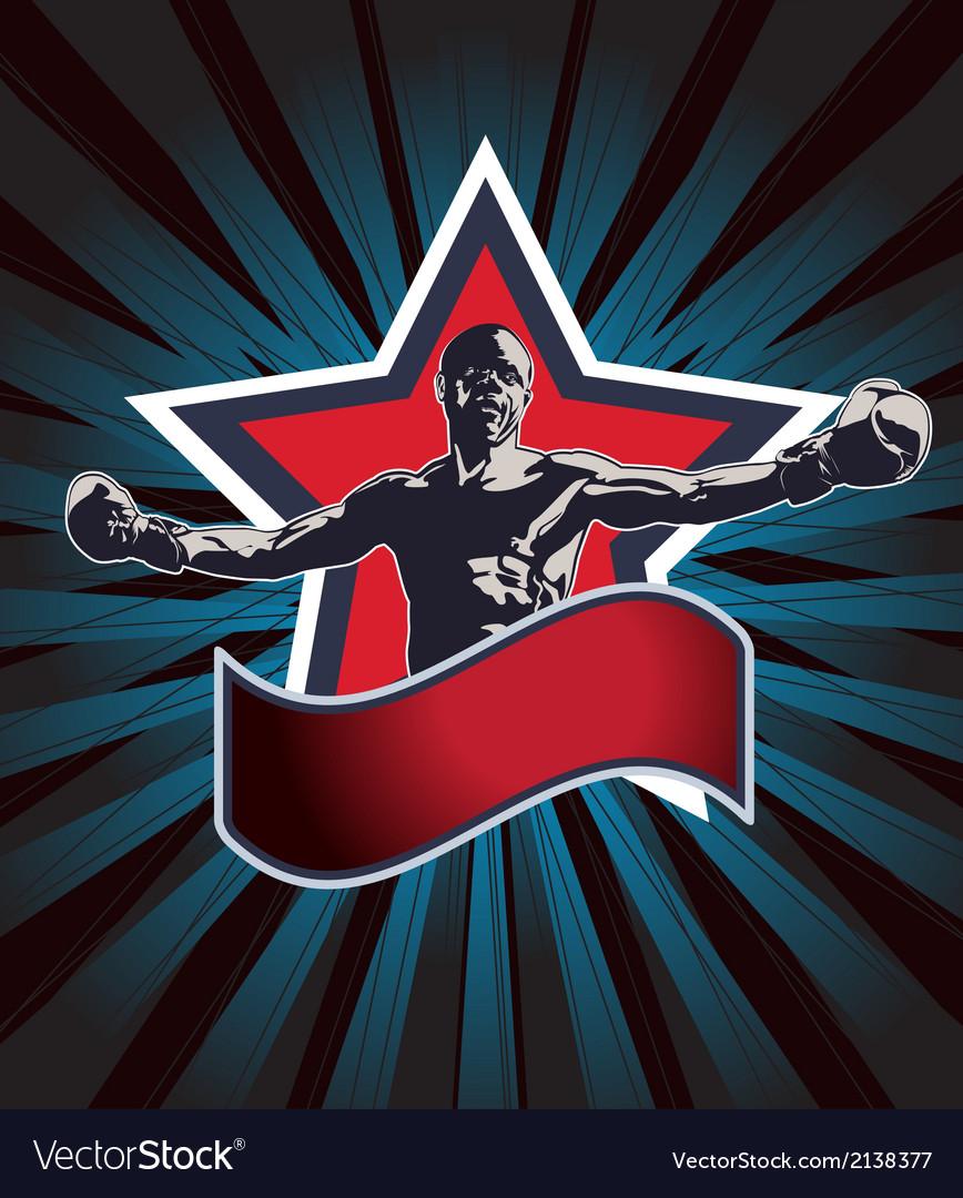 Boxing champion icon or emblem
