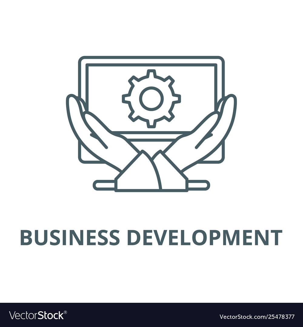Business development line icon linear