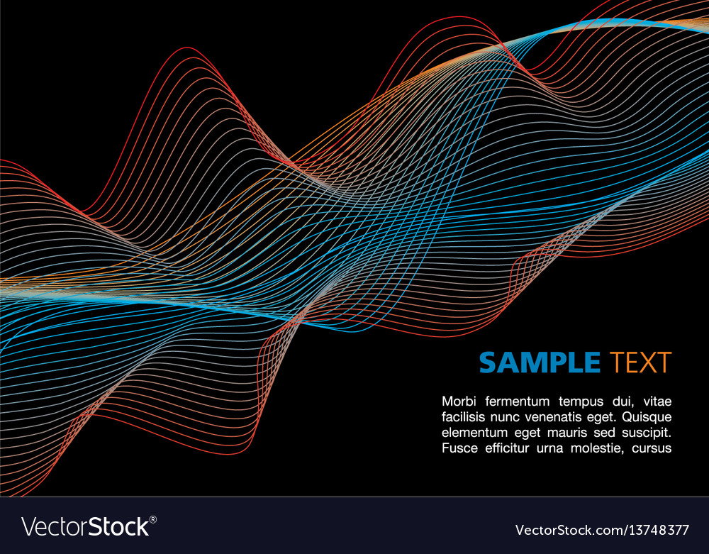 Colorful waves on black background vector image