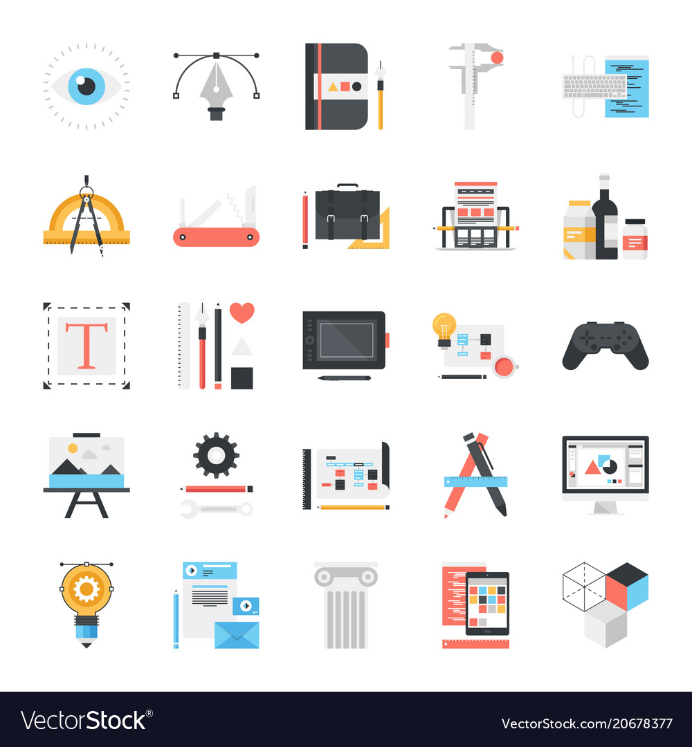 Design and development icons