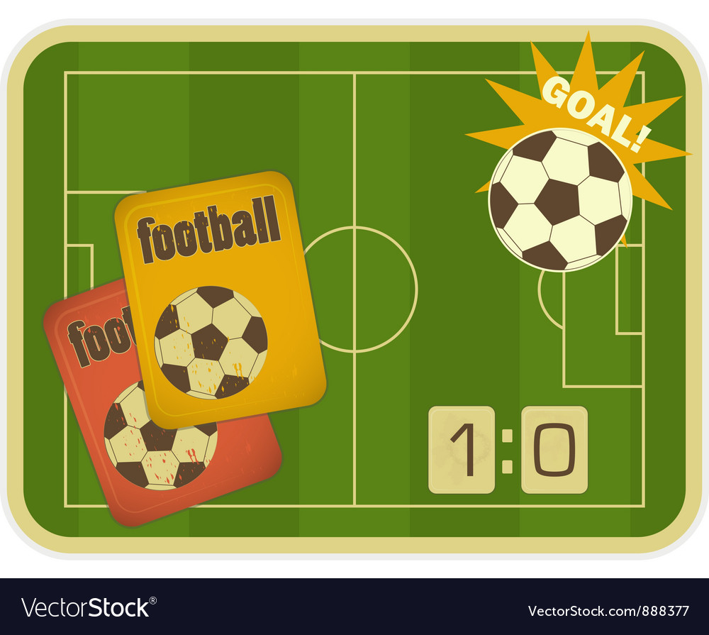 Football card vector image