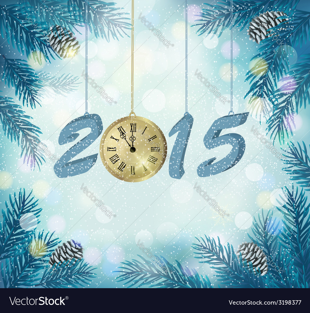 Happy new year 2015 New year design template