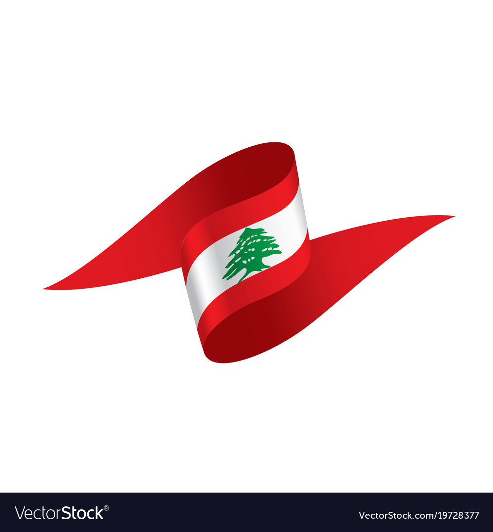 lebanese flag royalty free vector image vectorstock