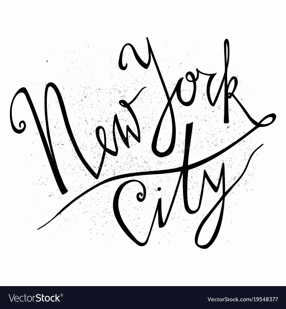 New york city hand drawn typography poster