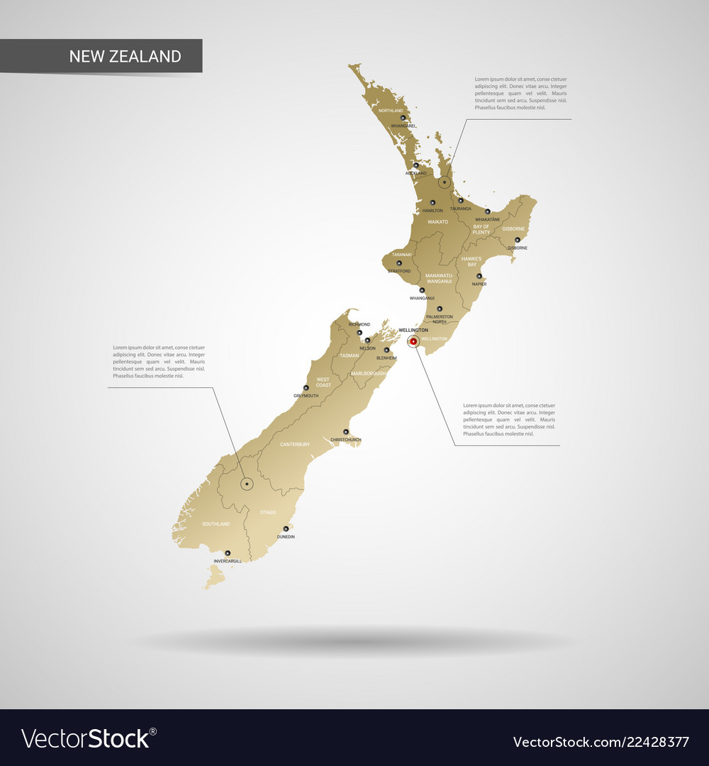 Stylized new zealand map