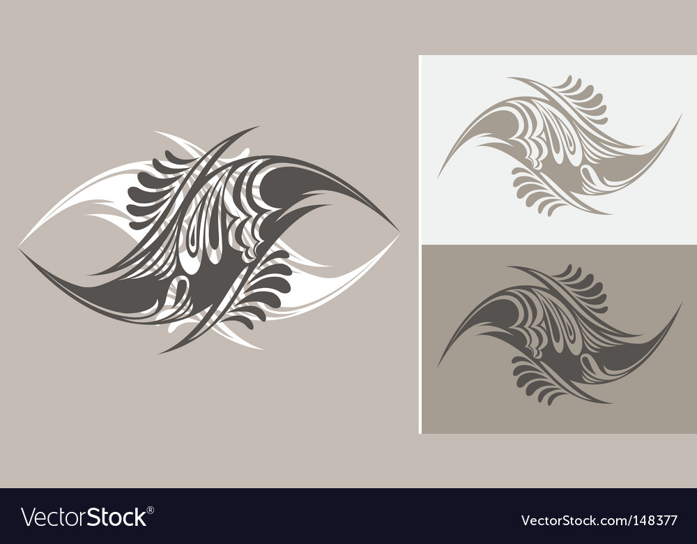 Tattoo styled abstract designs vector image