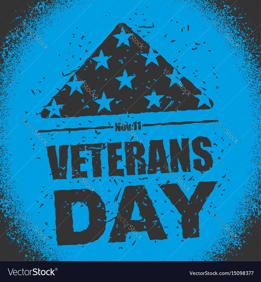 Veterans day in usa flag america folded in