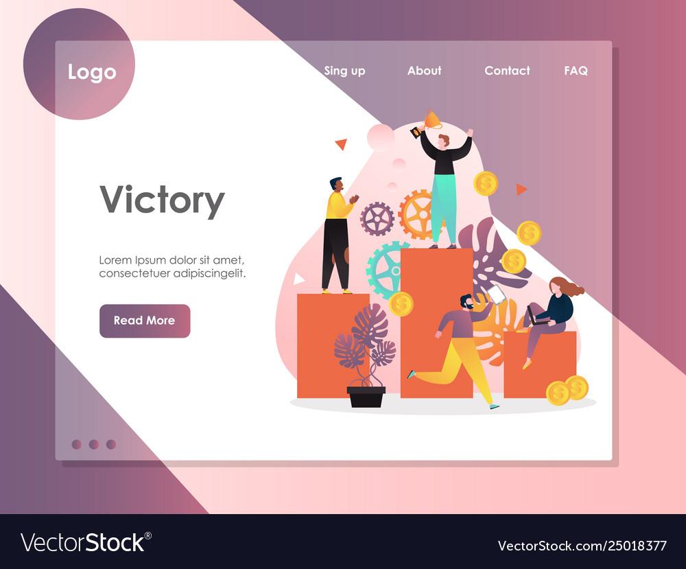 Victory website landing page design