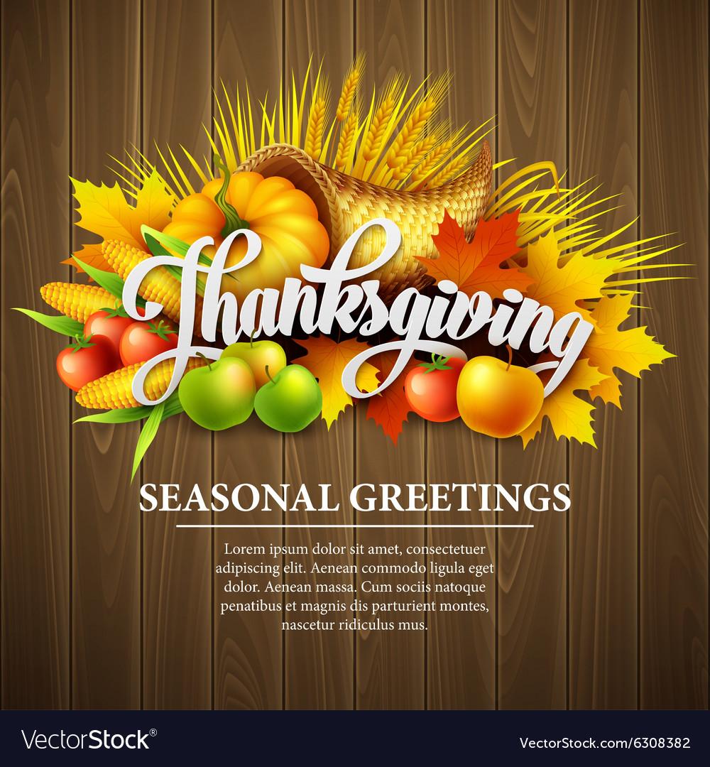 A Thanksgiving cornucopia full of