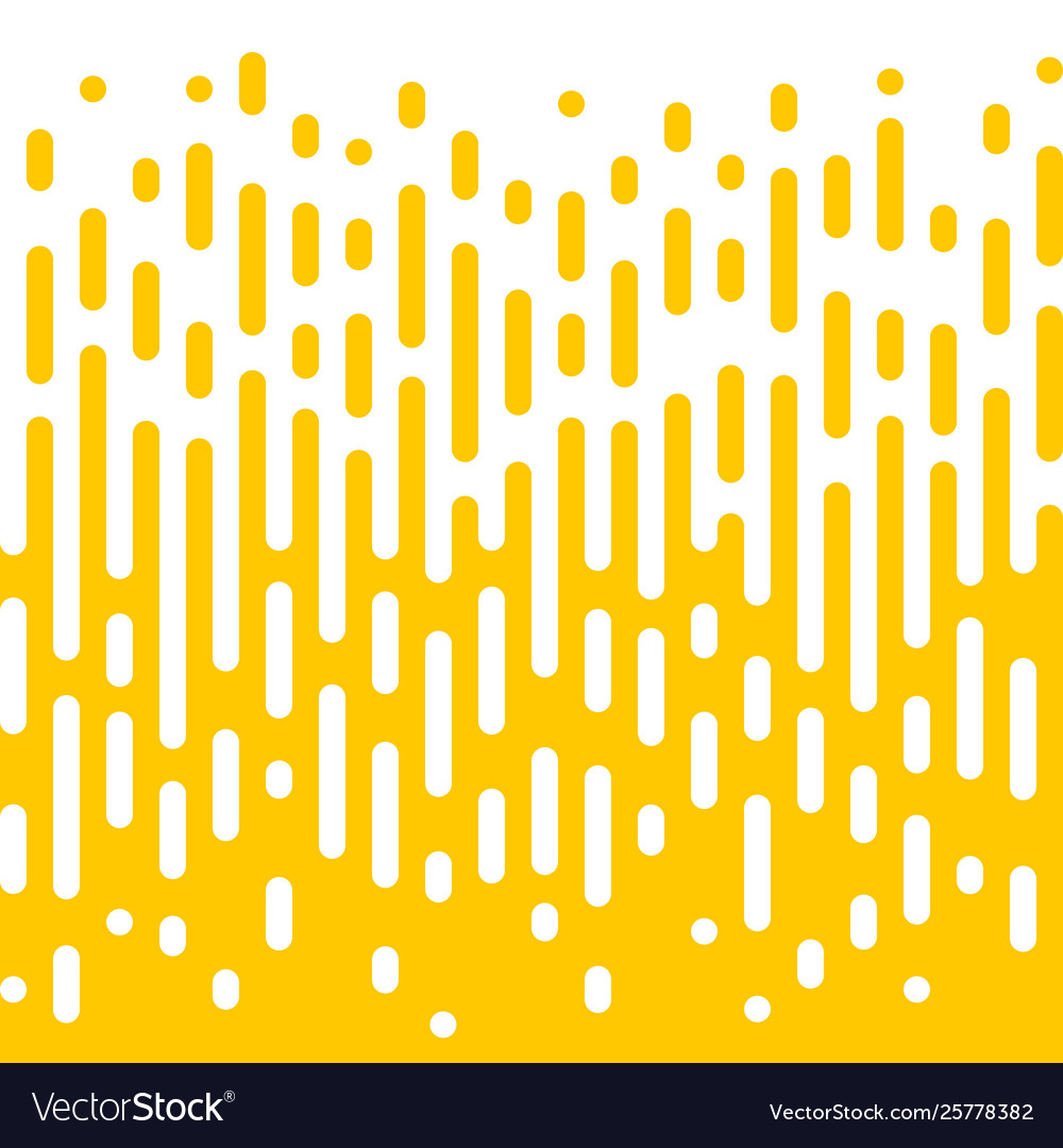 Abstract yellow line halftone liquid background