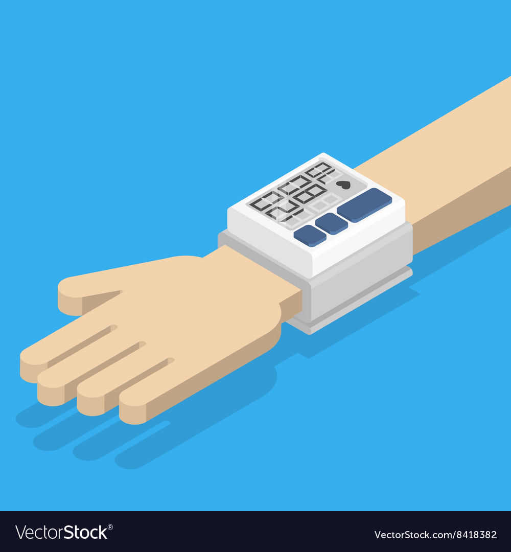 Blood pressure monitor on hand