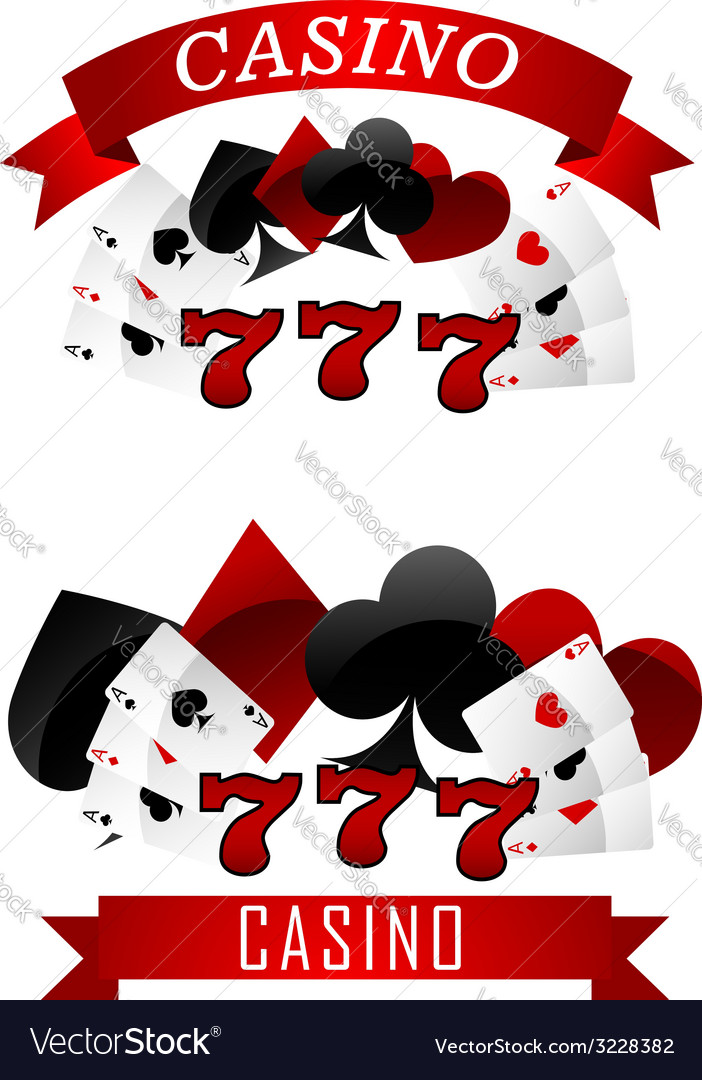 Gambling emblems or signs vector image