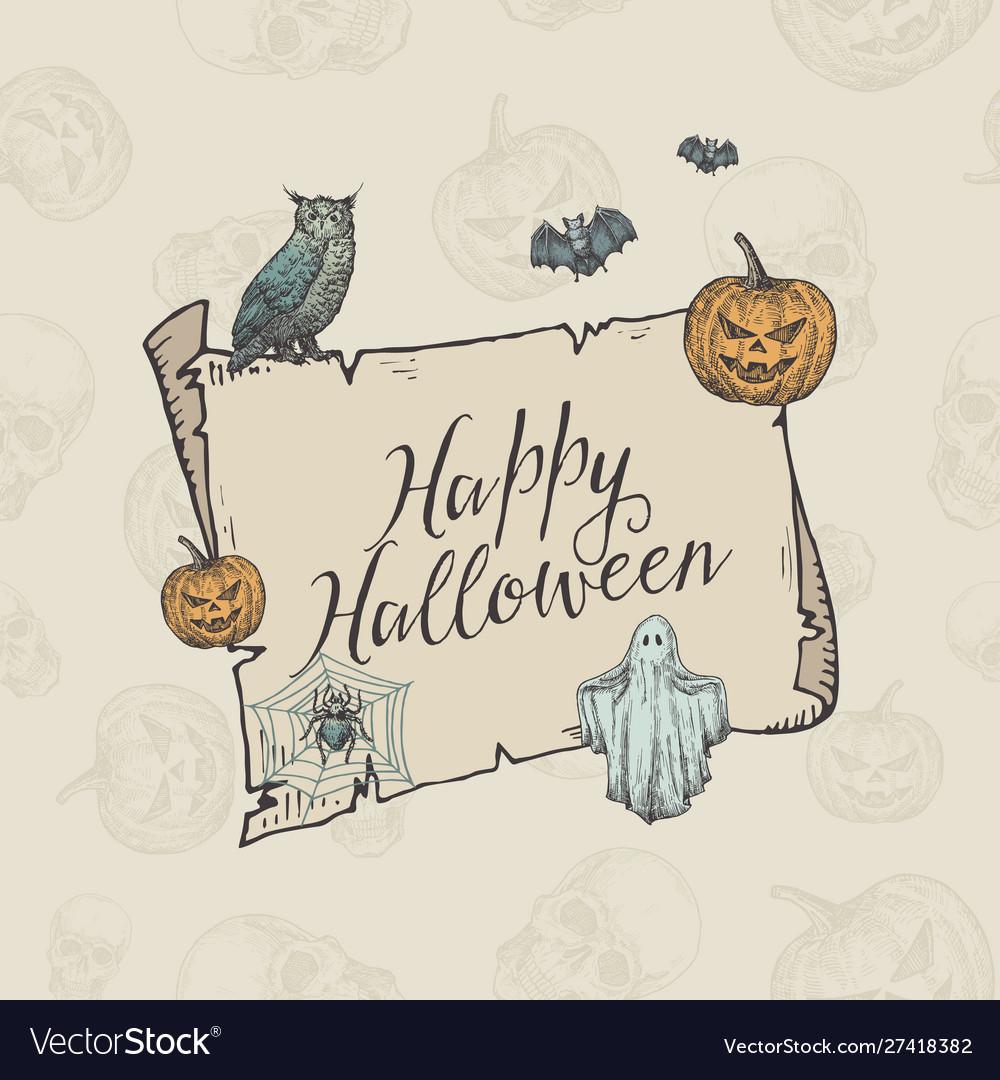 Happy halloween trick or treat banner
