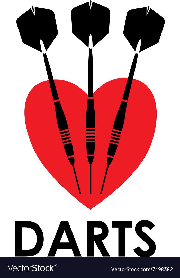 Love darts vector image