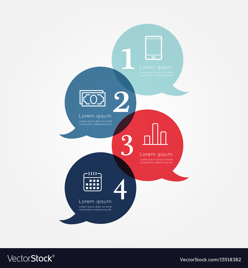 Modern business infographic