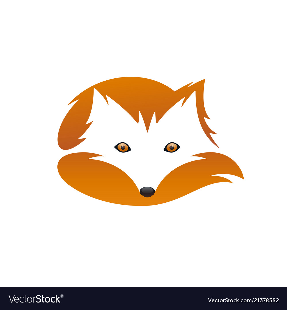 Red fox with tail negative space