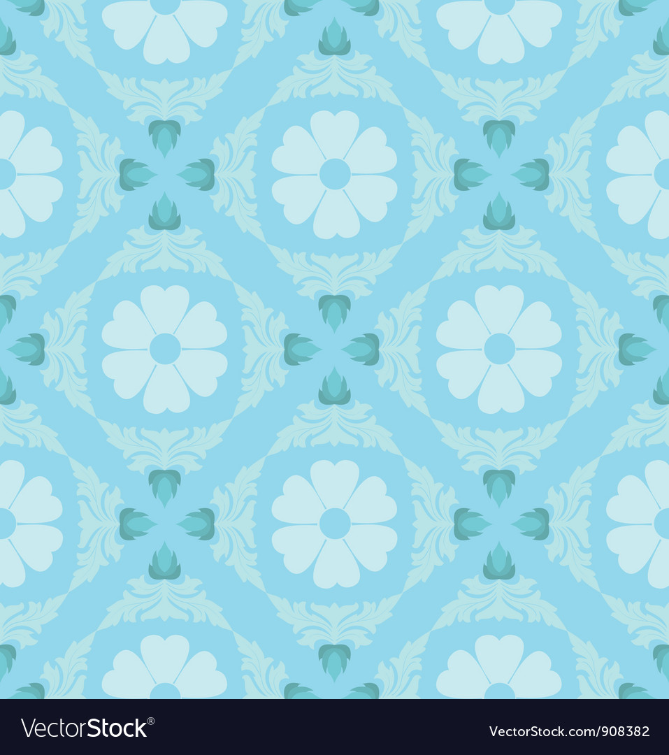 Retro Floral Pattern Wallpaper Royalty Free Vector Image