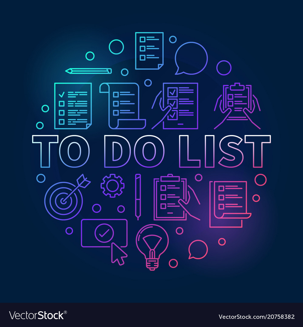 To do list colored made with
