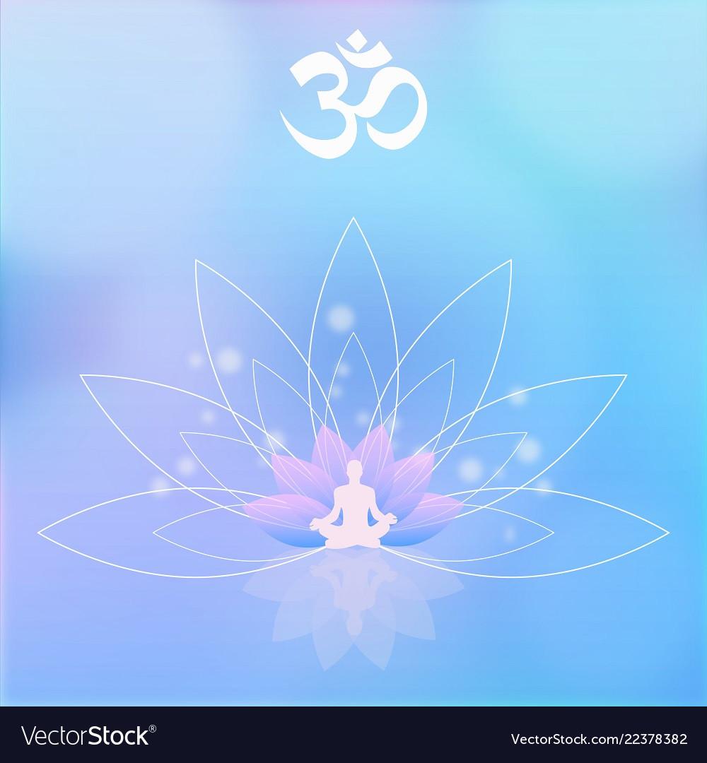 Yoga lotos meditation