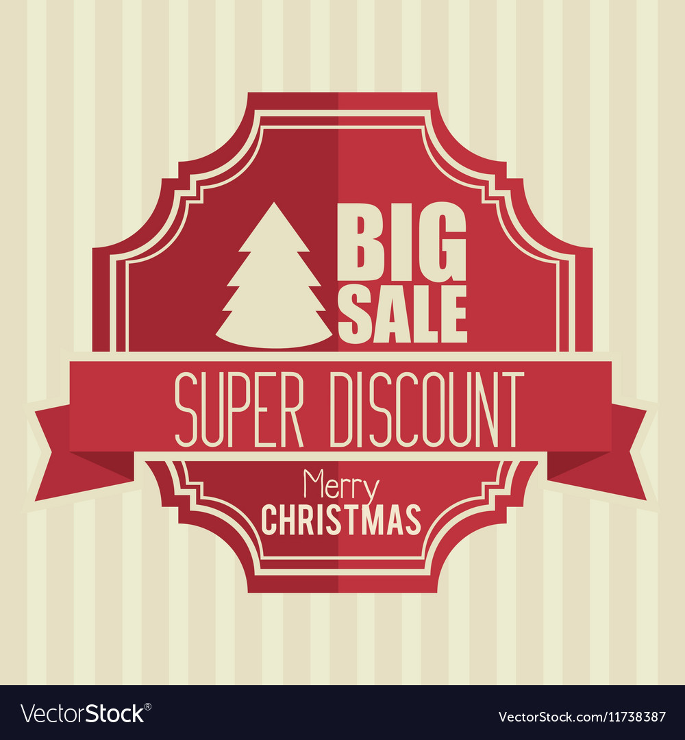 Big sale super discount merry christmas banner