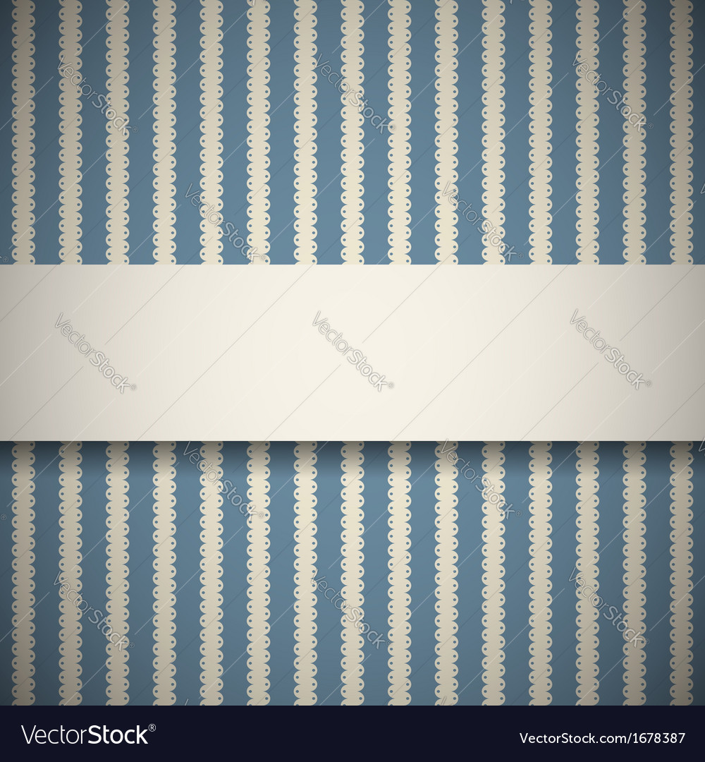 Blue retro pattern with stripes