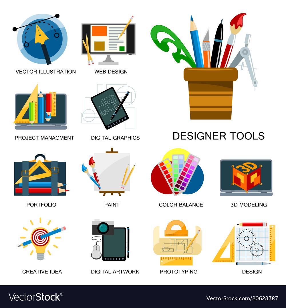 Creativity Icons Imagination Vector Image