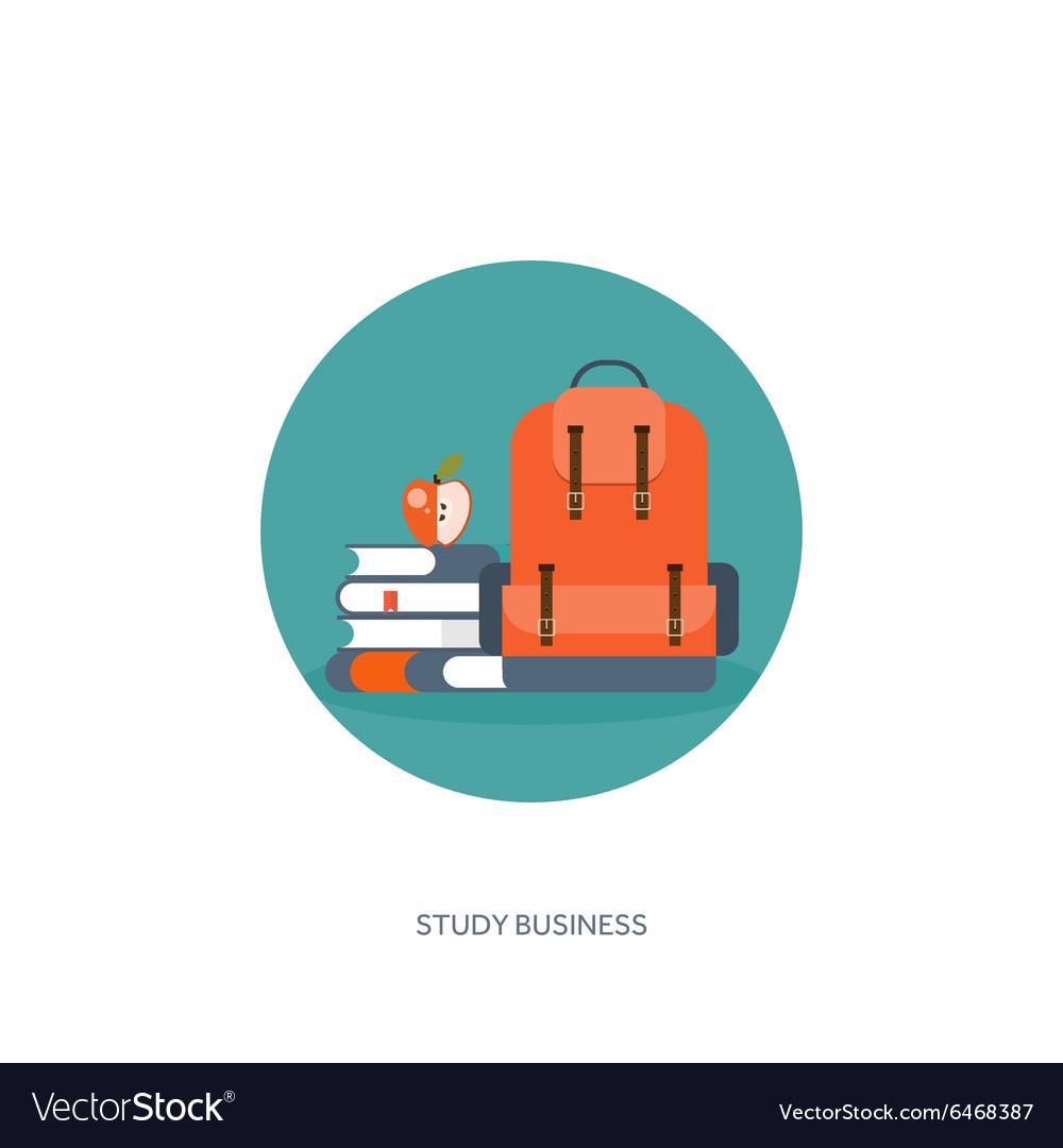 Flat school backpack Study