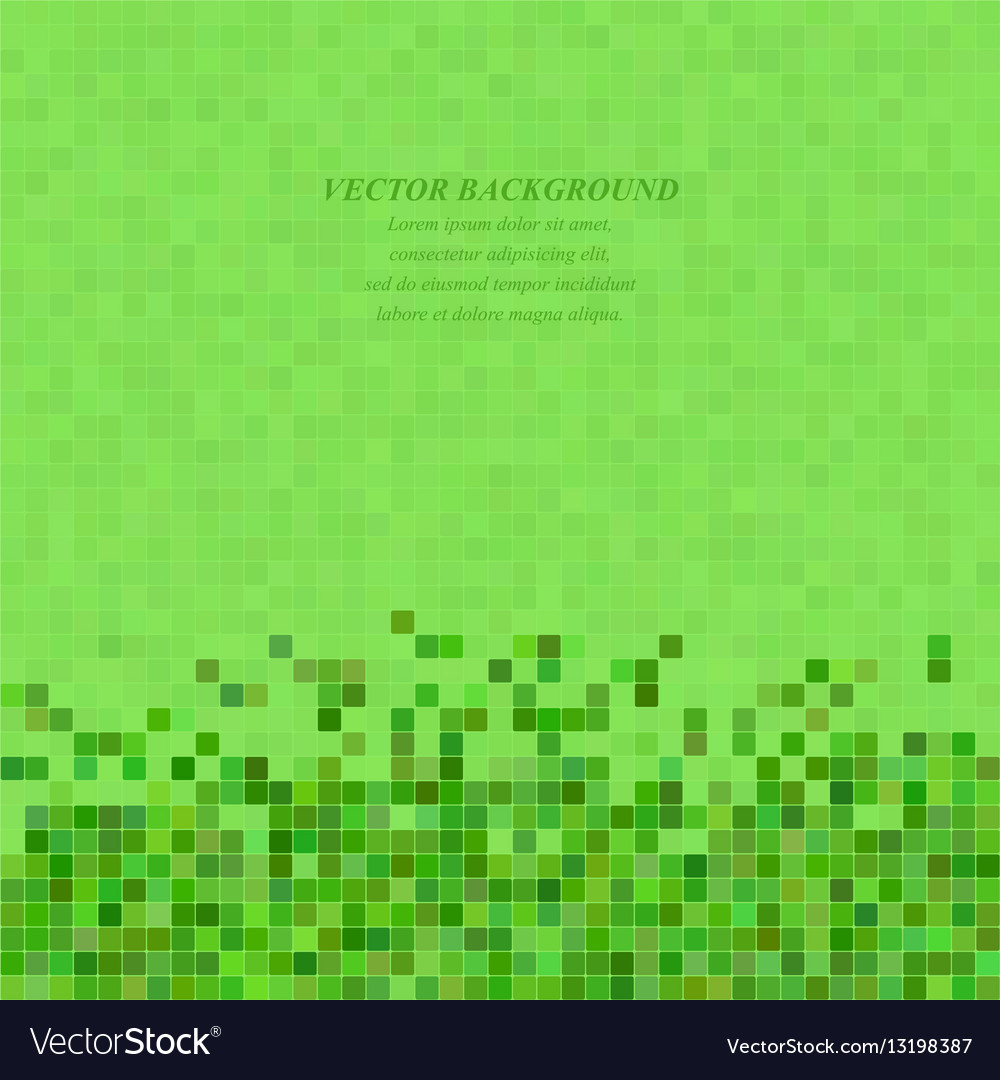 Green abstract pixel square mosaic background