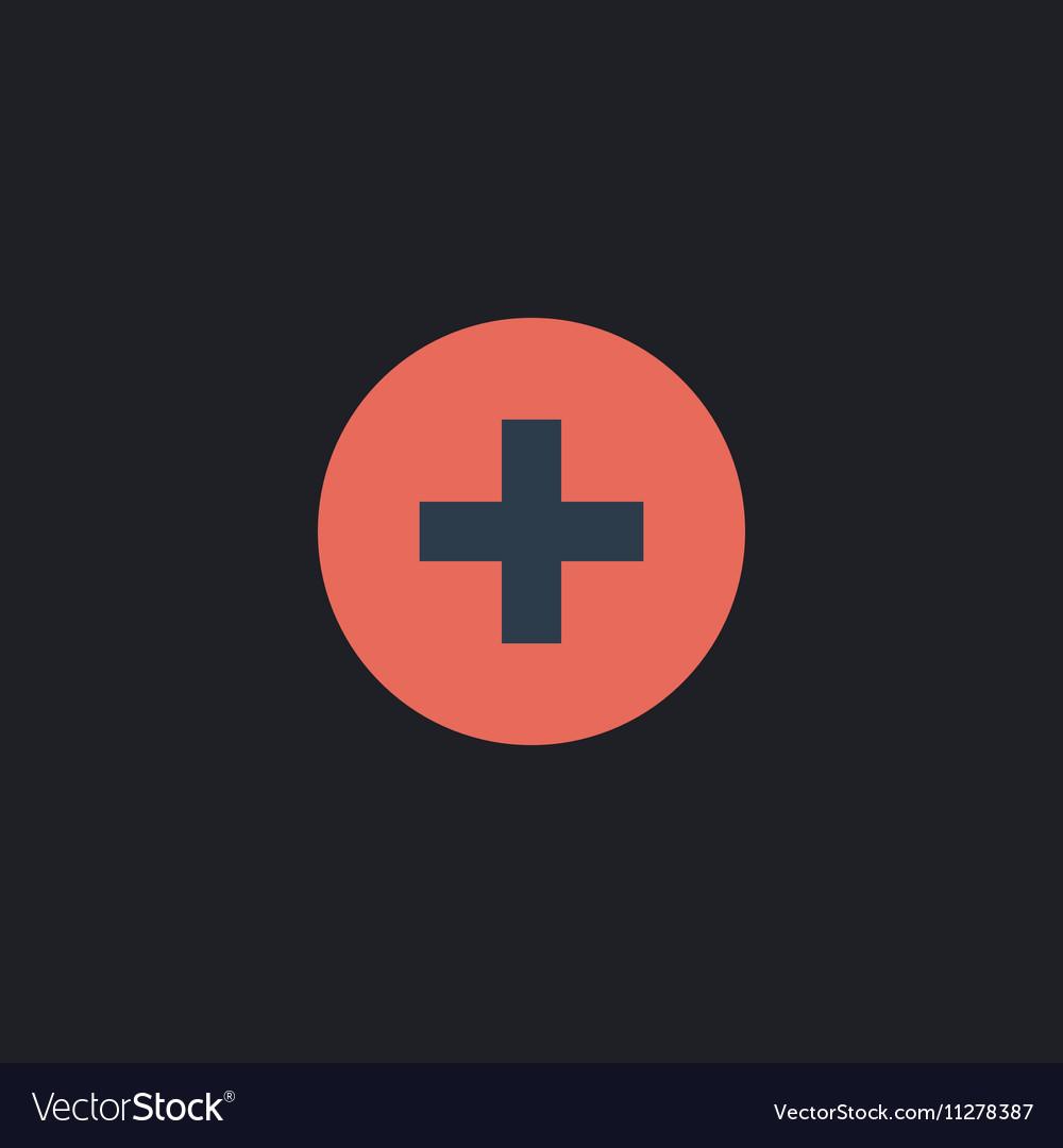 Medical cross computer symbol vector image