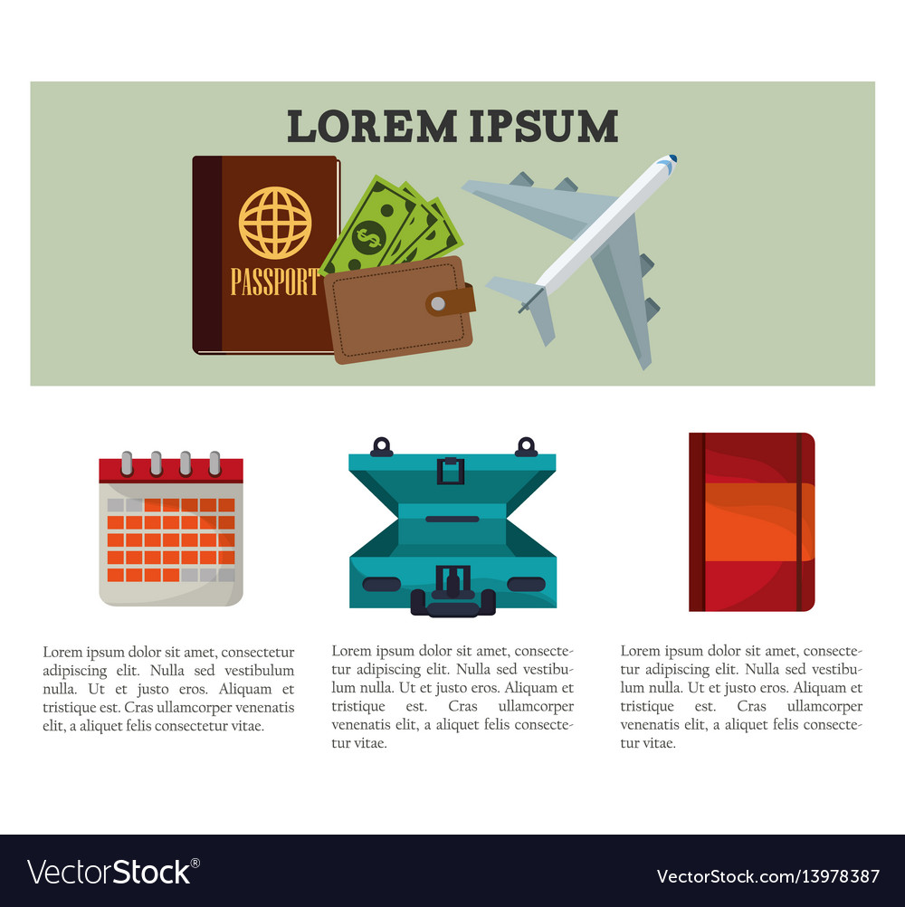 Travel flyer vacation template vector image