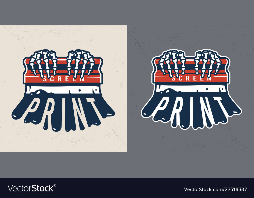 Vintage colorful screen printing concept