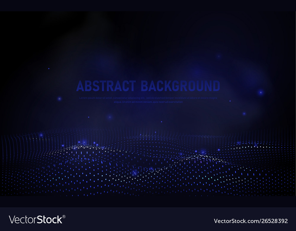 Abstract 3d wave points grid big data background
