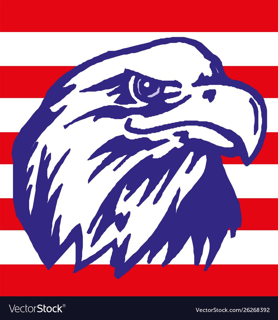 American eagle with usa flag eps 10