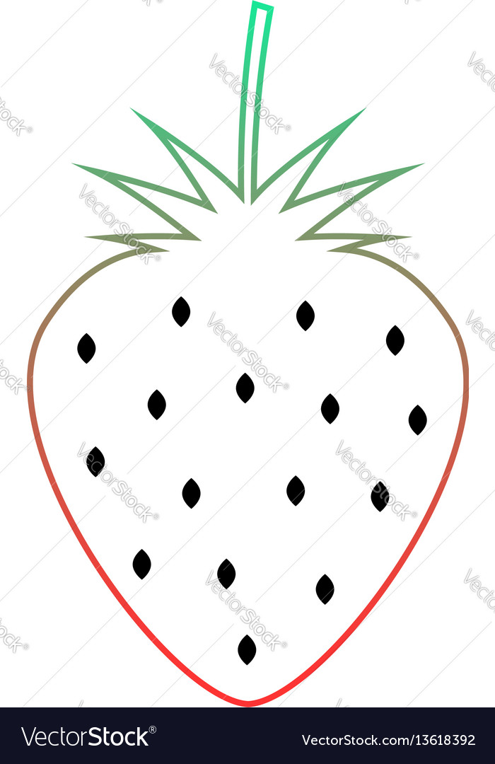 Colored wild strawberry icon