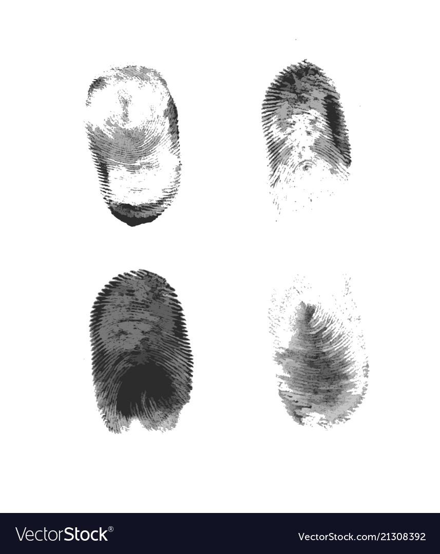 Fingerprint icon silhouette on white background