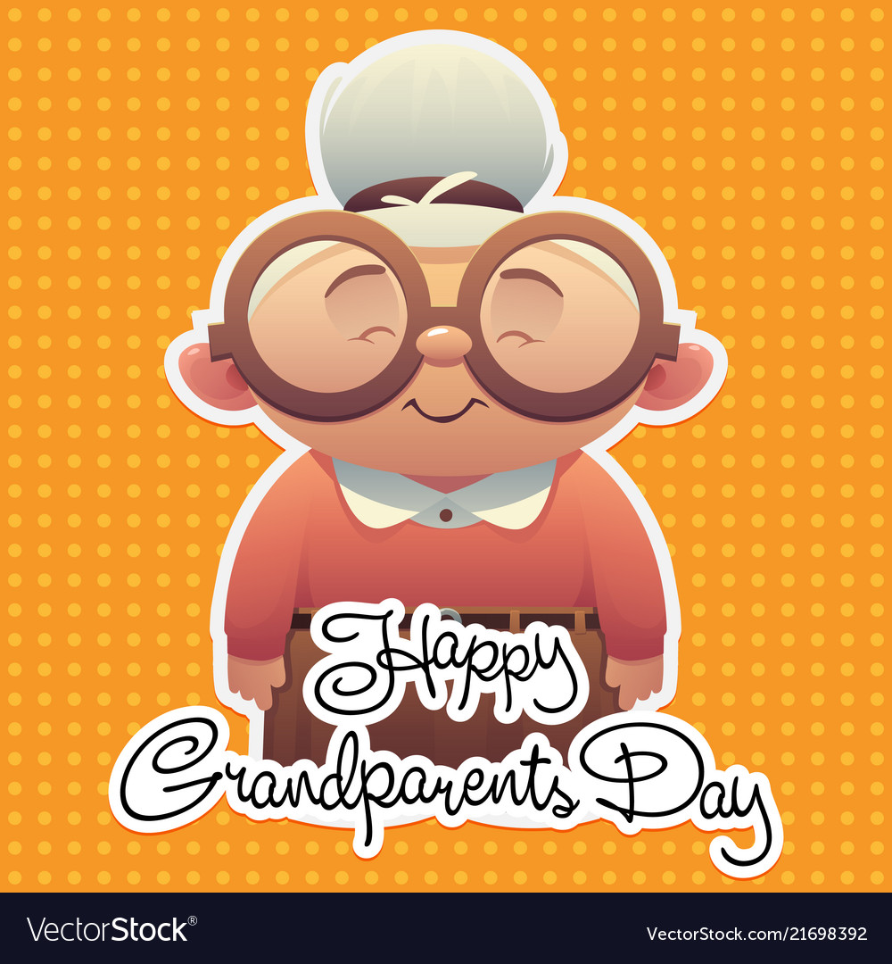 Happy grandparents day background with cute