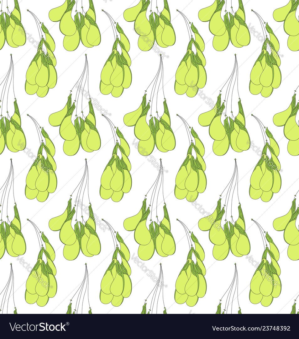 Seamless pattern with green maple seeds