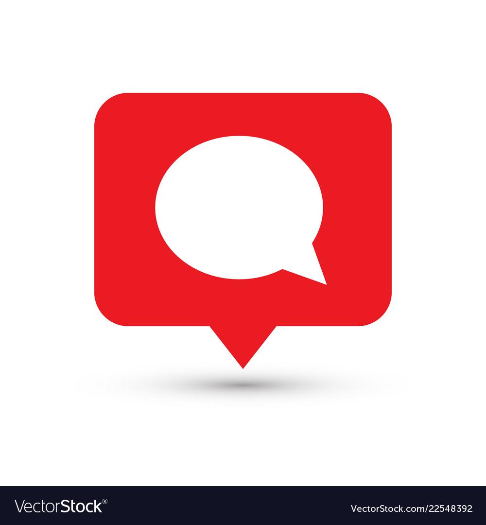social media icon comments comment button symbol vector image vectorstock