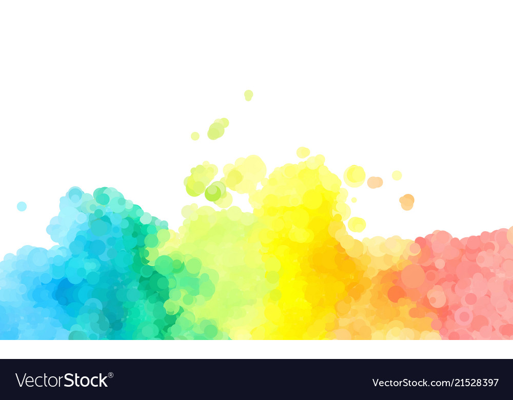 Abstract colorful watercolor background dotted
