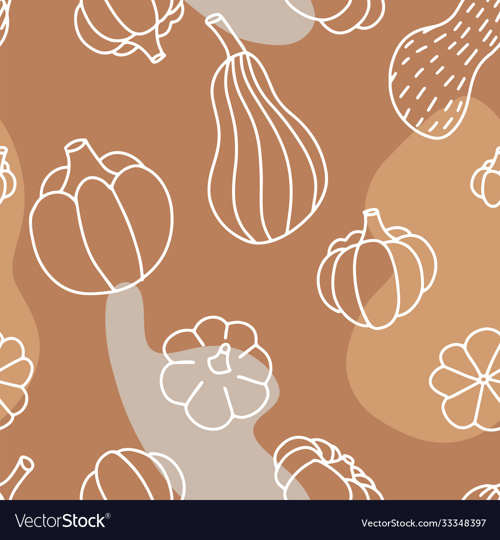 Food seamless pattern in line art and doodle