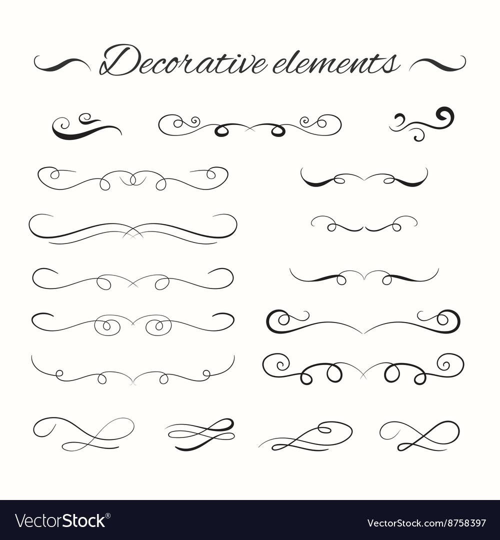 Hand drawn divders set Ornamental decorative vector image