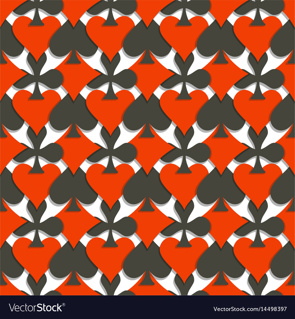 Seamless pattern cards suits