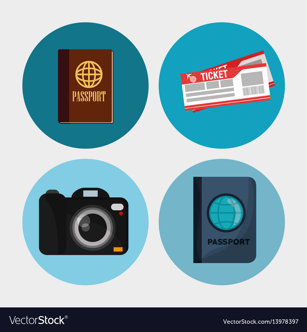 Set elements vacation travel