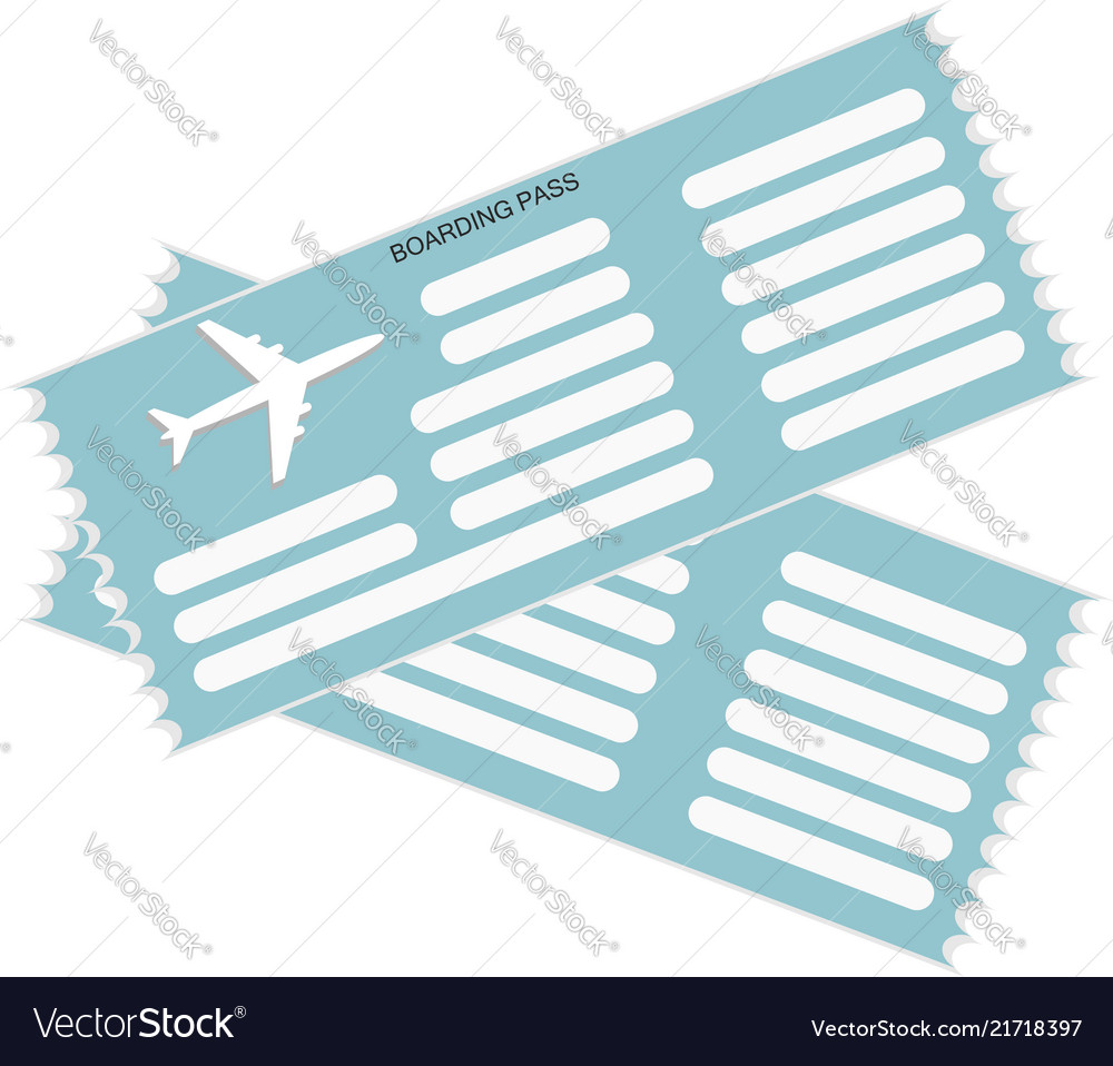 Two airplane tickets icon in blue color