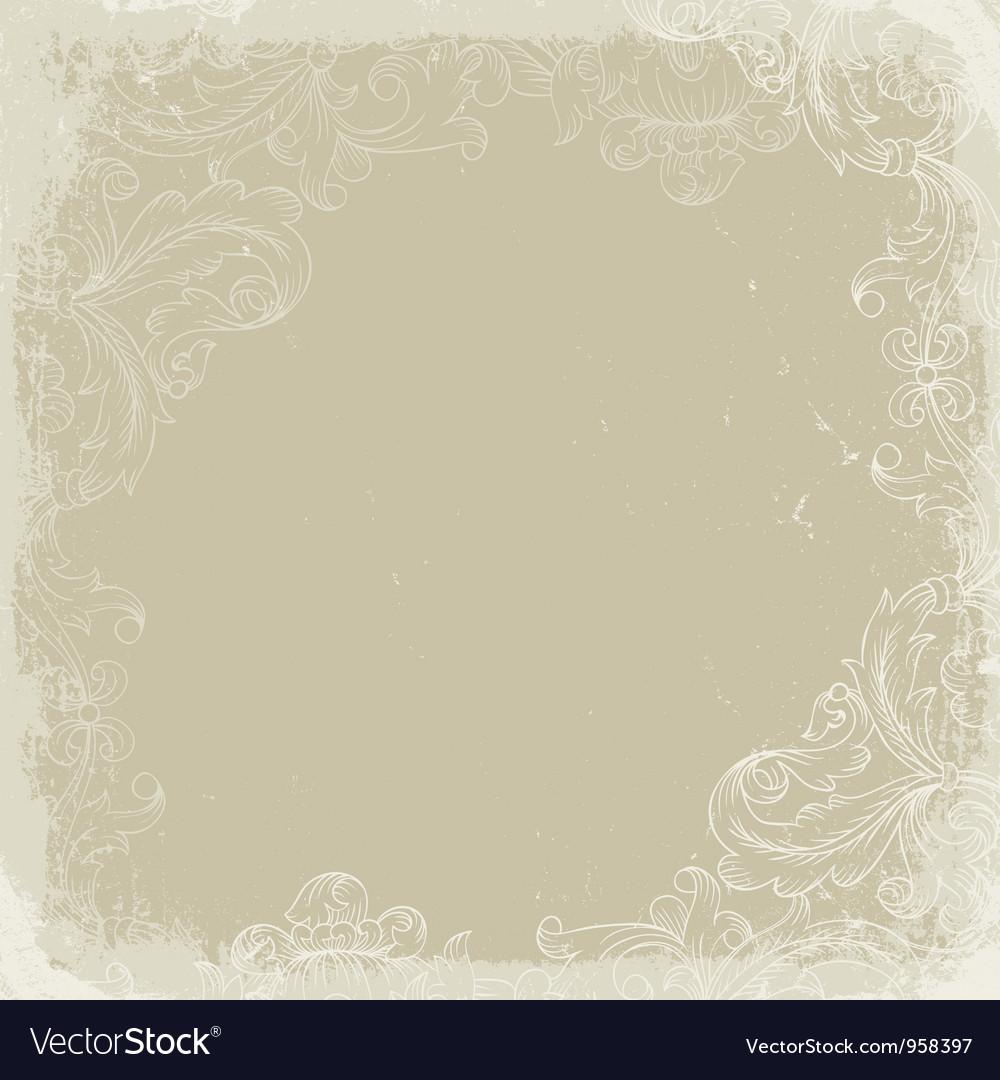 Vintage background beige vector image