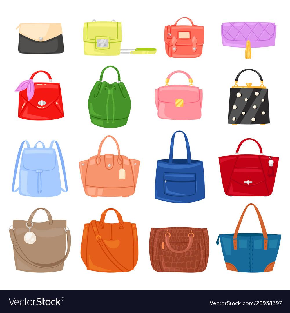 ac0b62d532 Woman bag girls handbag or purse and Royalty Free Vector