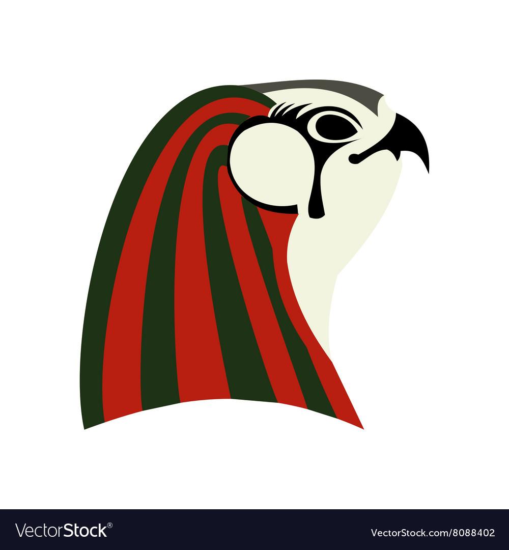 Horus icon flat style