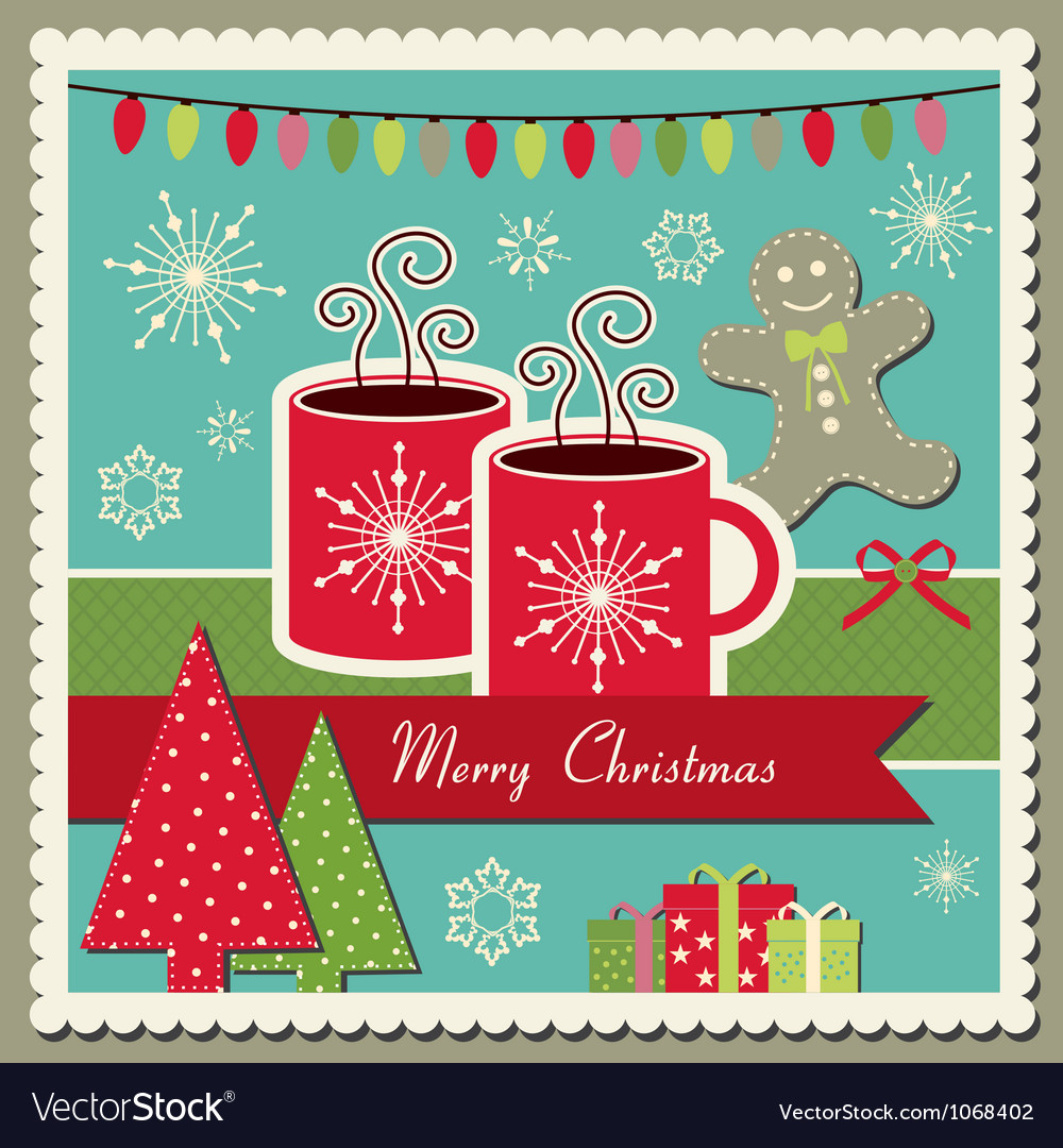 Hot chocolate christmas card royalty free vector image hot chocolate christmas card vector image m4hsunfo