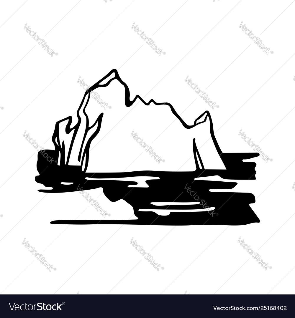Iceberg armada in north sea